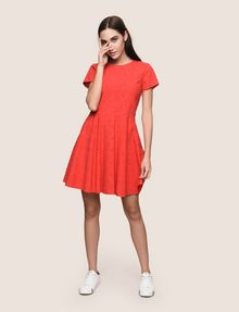ARMANI EXCHANGE EYELET LACE FIT-AND-FLARE Mini dress [*** pickupInStoreShipping_info ***] d