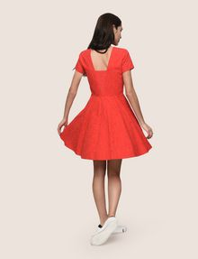ARMANI EXCHANGE EYELET LACE FIT-AND-FLARE Mini dress [*** pickupInStoreShipping_info ***] e