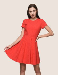 ARMANI EXCHANGE EYELET LACE FIT-AND-FLARE Mini dress [*** pickupInStoreShipping_info ***] f
