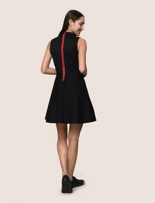 ARMANI EXCHANGE CUTOUT NECK FIT-AND-FLARE Mini dress Woman e