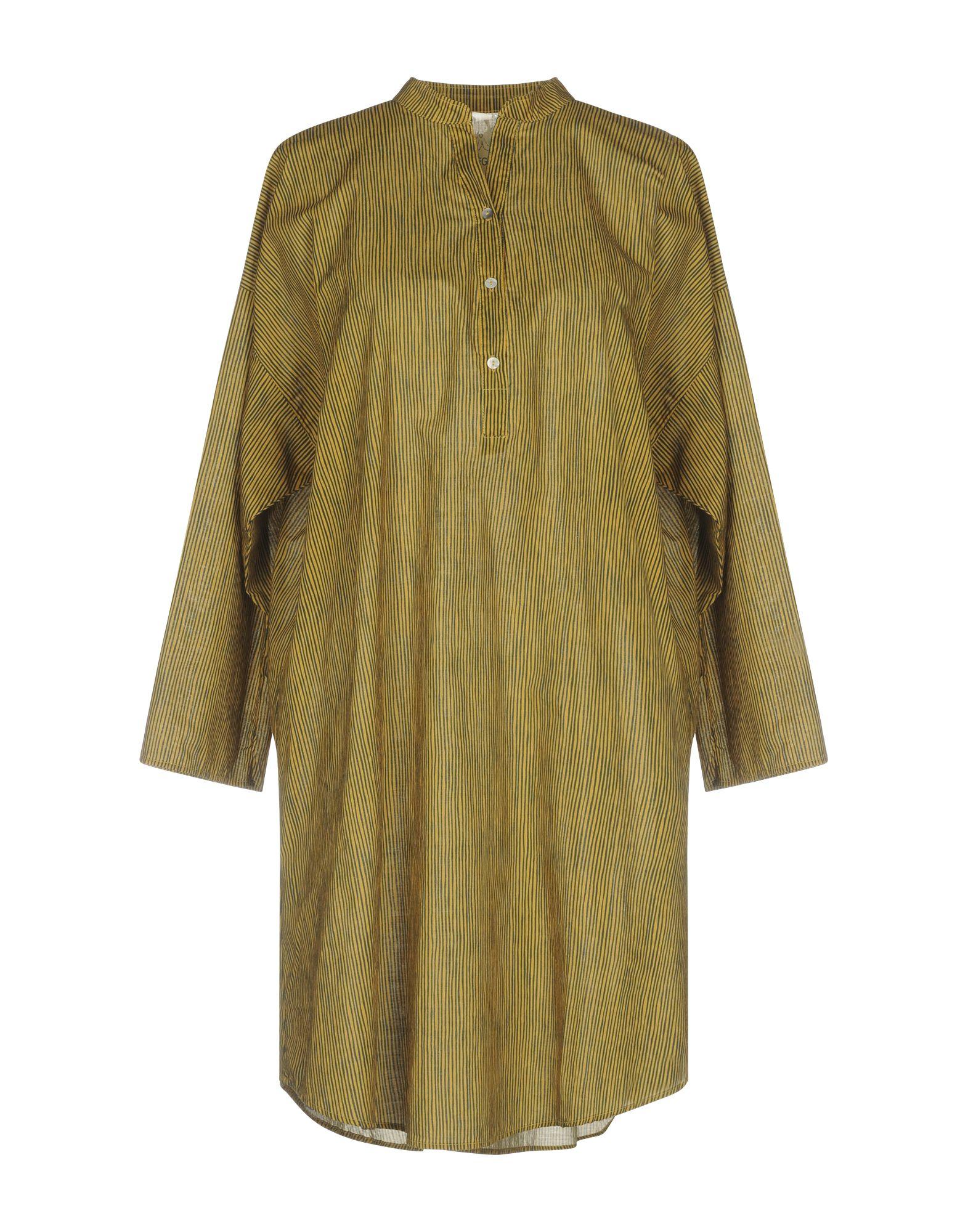 DIEGA Shirt Dress in Ocher