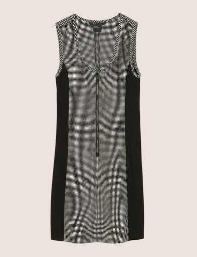 PANELED ZIP-FRONT BODYCON