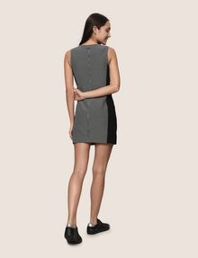 ARMANI EXCHANGE PANELED ZIP-FRONT BODYCON Mini dress Woman e