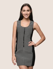 ARMANI EXCHANGE PANELED ZIP-FRONT BODYCON Mini dress Woman f