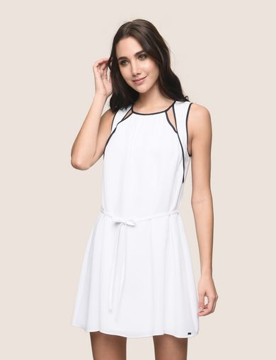 CUTOUT NECKLINE SWING DRESS