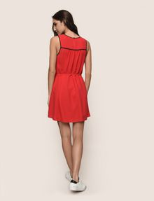ARMANI EXCHANGE CUTOUT NECKLINE SWING DRESS Mini Dress Woman e