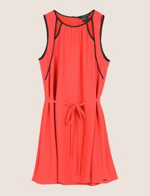 ARMANI EXCHANGE CUTOUT NECKLINE SWING DRESS Mini Dress Woman r
