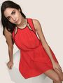 ARMANI EXCHANGE CUTOUT NECKLINE SWING DRESS Mini Dress Woman a