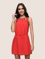ARMANI EXCHANGE CUTOUT NECKLINE SWING DRESS Mini Dress Woman f