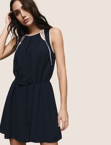 ARMANI EXCHANGE CUTOUT NECKLINE SWING DRESS Mini dress Woman a
