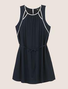 ARMANI EXCHANGE CUTOUT NECKLINE SWING DRESS Mini dress Woman r