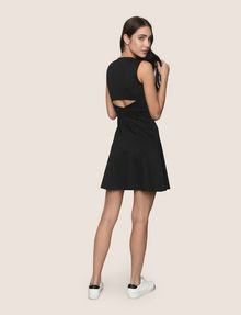 ARMANI EXCHANGE FRAGMENTED STRIPE FIT-AND-FLARE Mini dress Woman e