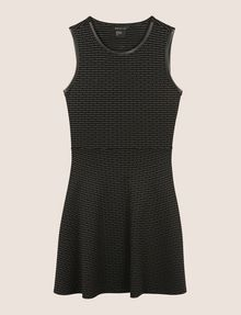 ARMANI EXCHANGE FRAGMENTED STRIPE FIT-AND-FLARE Mini dress Woman r