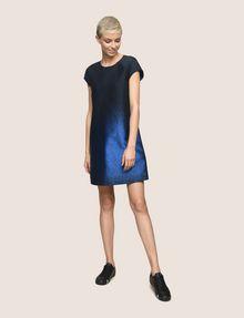 ARMANI EXCHANGE OMBRE JACQUARD TEE DRESS Mini Dress Woman d