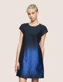 ARMANI EXCHANGE OMBRE JACQUARD TEE DRESS Mini Dress Woman f