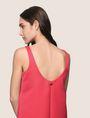 ARMANI EXCHANGE SLEEVELESS SATIN SHIFT DRESS Mini dress Woman b