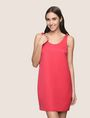 ARMANI EXCHANGE SLEEVELESS SATIN SHIFT DRESS Mini Dress Woman f