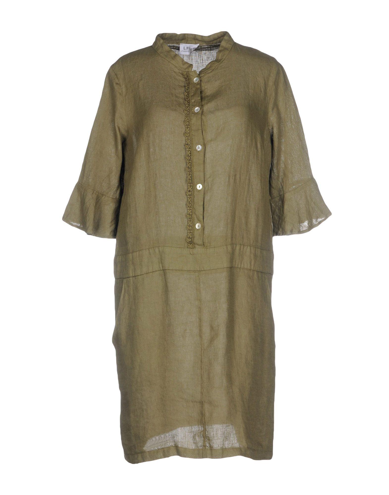 LA FABBRICA del LINO Короткое платье рубашки lino russo рубашка индиго