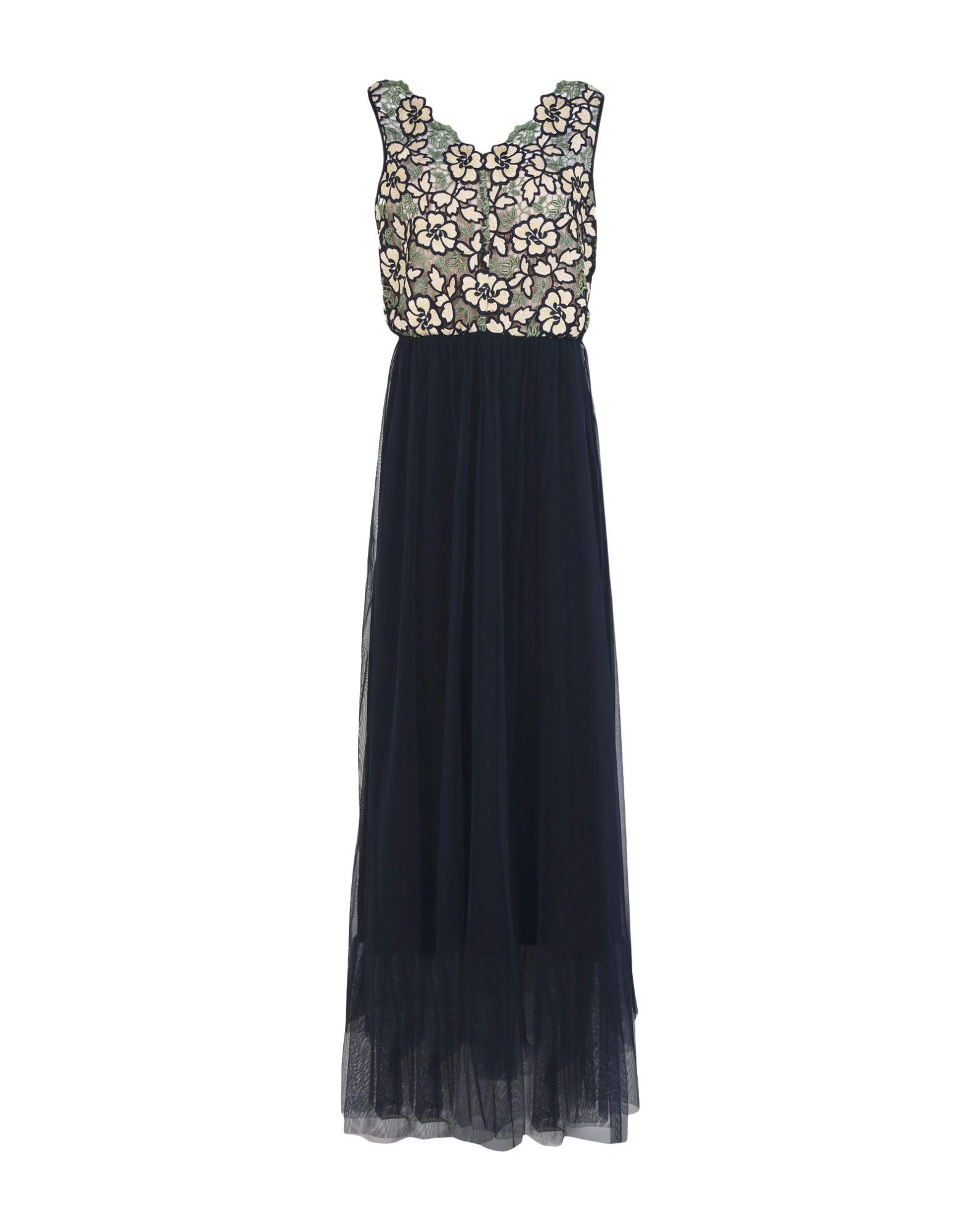 TRESOPHIE Damen Langes Kleid Farbe Beige Größe 4