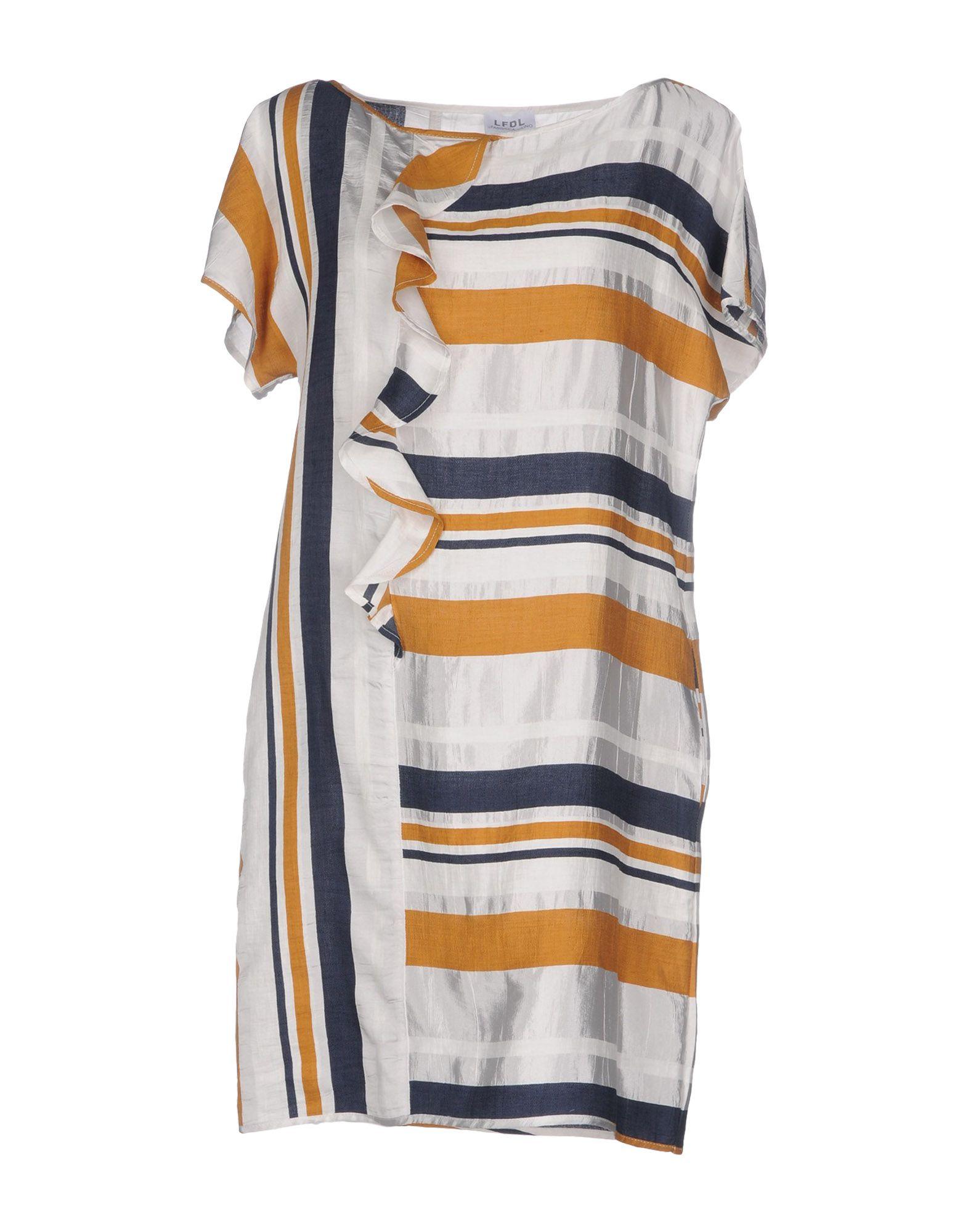 LA FABBRICA del LINO Короткое платье цена 2017
