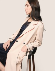 ARMANI EXCHANGE CONTRAST PIPING TRENCH COAT Coat Woman a