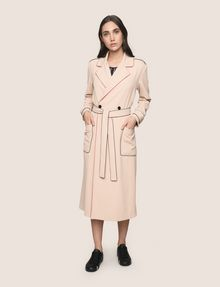 ARMANI EXCHANGE CONTRAST PIPING TRENCH COAT Coat Woman f