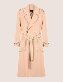 ARMANI EXCHANGE CONTRAST PIPING TRENCH COAT Coat Woman r