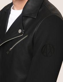 ARMANI EXCHANGE NEOPRENE-SLEEVE MOTO JACKET Moto Jacket Man b