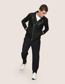 ARMANI EXCHANGE NEOPRENE-SLEEVE MOTO JACKET Moto Jacket Man d