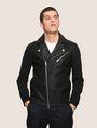 ARMANI EXCHANGE NEOPRENE-SLEEVE MOTO JACKET Moto Jacket Man f