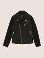 ARMANI EXCHANGE NEOPRENE-SLEEVE MOTO JACKET Moto Jacket Man r