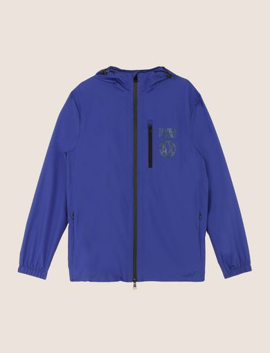 METALLIC-FINISH LOGO WINDBREAKER