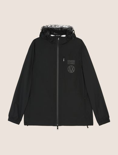 WINDJACKE MIT METALLIC-LOGO