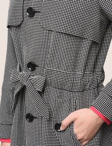 ARMANI EXCHANGE CHECK PRINT TRENCH COAT Jacket Woman b