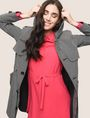 ARMANI EXCHANGE CHECK PRINT TRENCH COAT Jacket Woman a