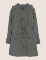 ARMANI EXCHANGE CHECK PRINT TRENCH COAT Jacket Woman r