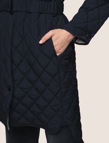 ARMANI EXCHANGE DIAMOND-QUILTED LONGLINE BOMBER PUFFER JACKET Woman b