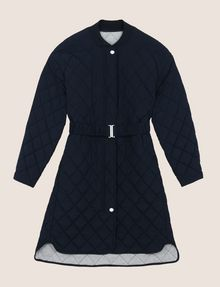 ARMANI EXCHANGE DIAMOND-QUILTED LONGLINE BOMBER PUFFER JACKET Woman r
