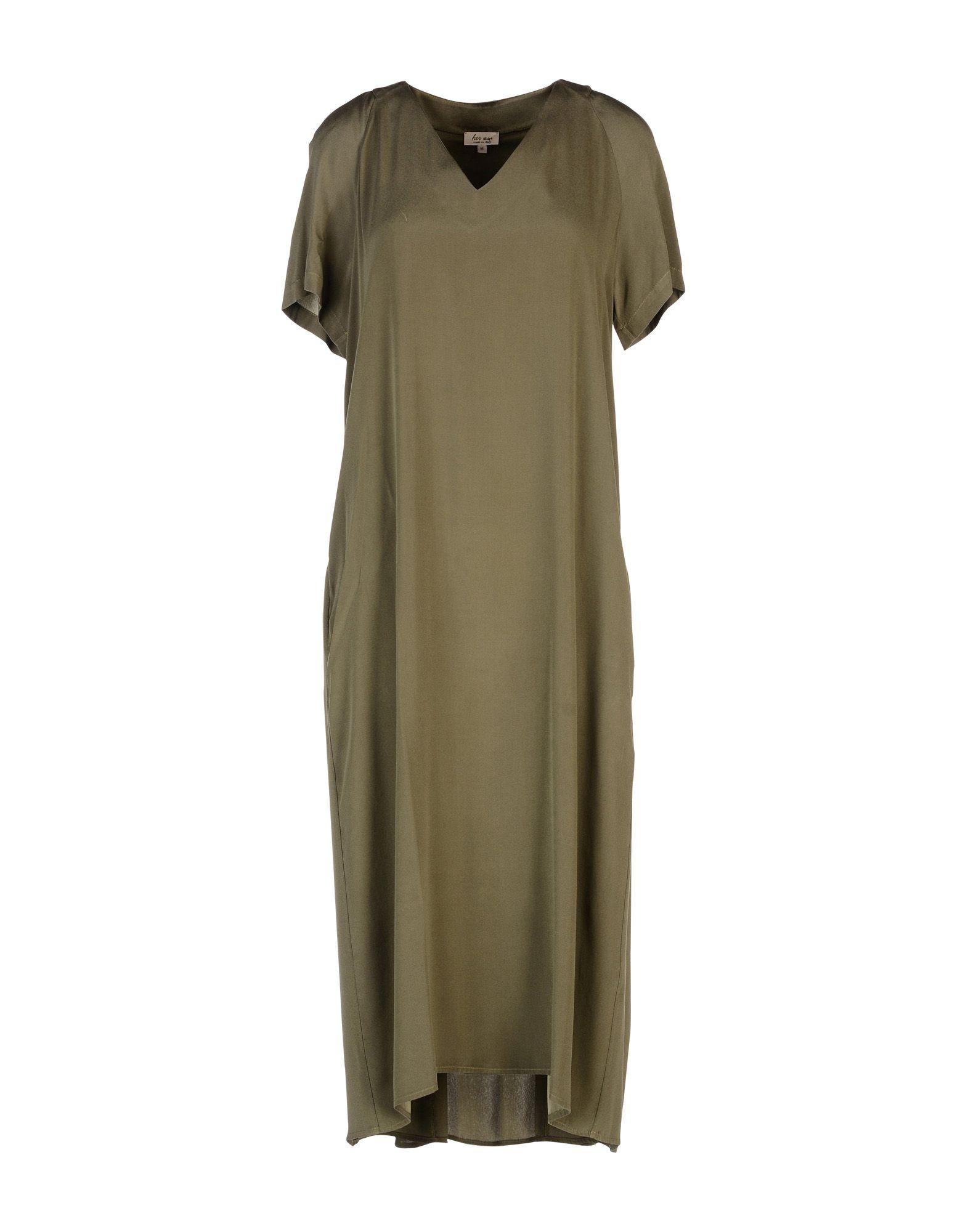 HER SHIRT Платье длиной 3/4 lisa corti платье длиной 3 4