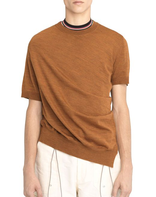 RUST-COLOURED ASYMMETRICAL TWISTED JUMPER - Lanvin