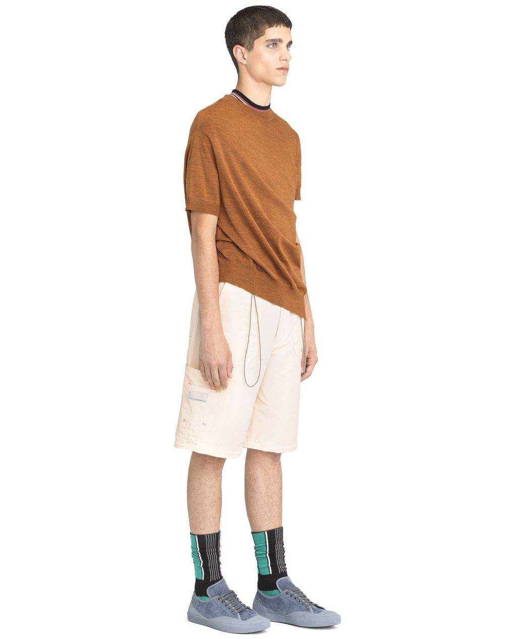 RUST-COLORED ASYMMETRICAL TWISTED SWEATER - Lanvin