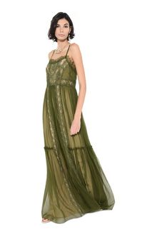 ALBERTA FERRETTI Dress with elaborate bodice Long Dress Woman a