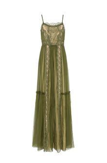 ALBERTA FERRETTI Dress with elaborate bodice Long Dress Woman d