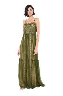 ALBERTA FERRETTI Dress with elaborate bodice Long Dress Woman f
