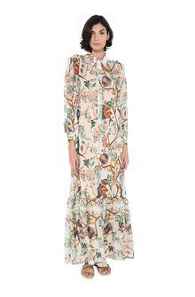 ALBERTA FERRETTI Long Dress Woman Shirt dress with frill f