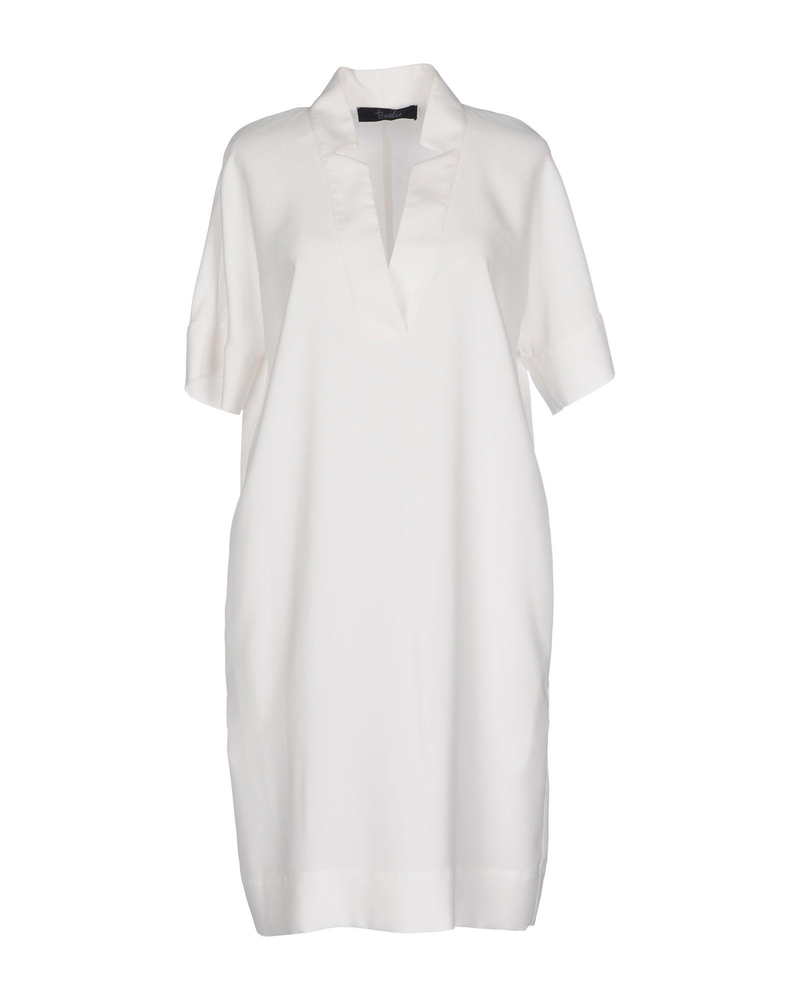 цена TWELVE-T Короткое платье онлайн в 2017 году