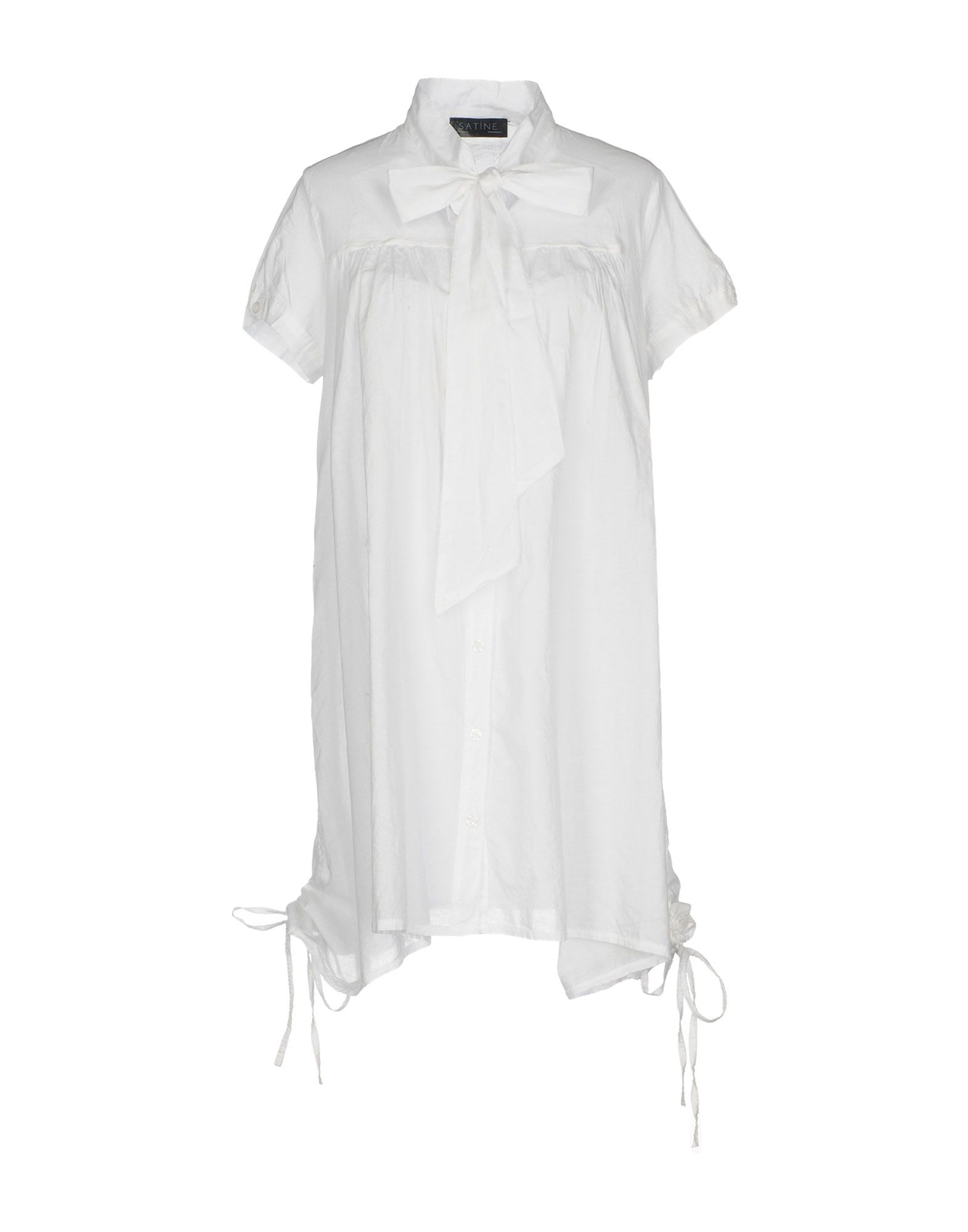 SATÌNE Короткое платье платье рубашка fox yulia sway платье рубашка fox