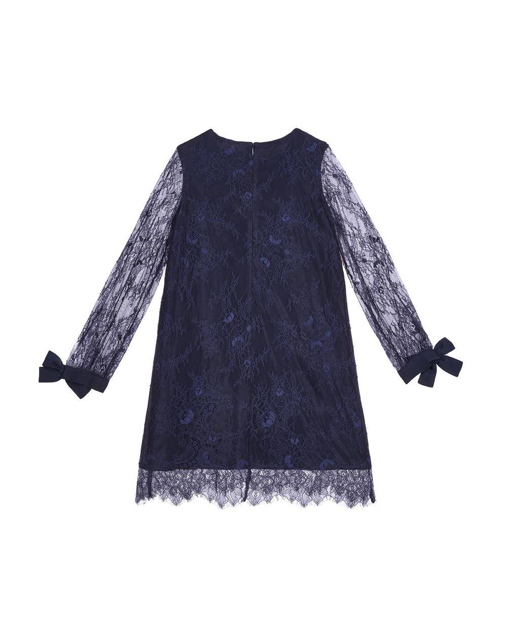 NAVY BLUE LACE DRESS - Lanvin