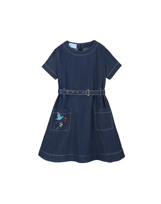 EMBROIDERED DENIM DRESS - Lanvin