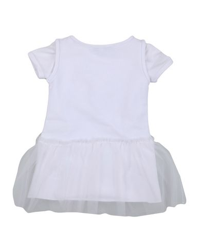 PATRIZIA PEPE Baby Kleid Weiß Größe 6 95% Baumwolle 5% Elastan Polyester